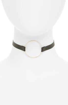 Junior Women's Girly Circle Faux Leather Choker $16 thestylecure.com