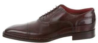 Santoni Cap-Toe Leather Oxfords w/ Tags