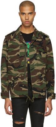 Saint Laurent Green Camo 'Love' Military Jacket $1,885 thestylecure.com