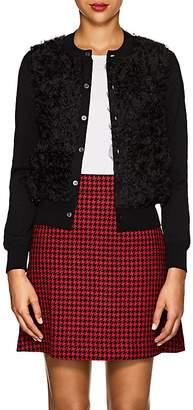 Comme des Garcons Women's Ruffle Wool & Organza Cardigan