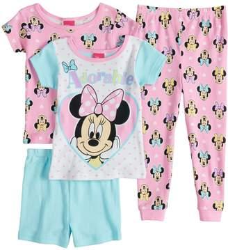 "Disney Disney's Minnie Mouse Toddler Girl ""Adorable"" Tops, Shorts & Pants Pajama Set"