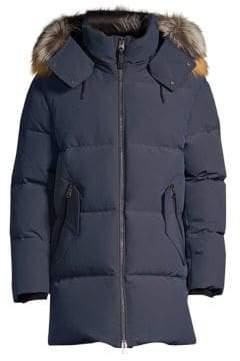 Mackage Mitch Hooded Fox Fur-Trim Down Coat
