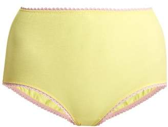 Araks Mabel High Rise Cotton Briefs - Womens - Yellow