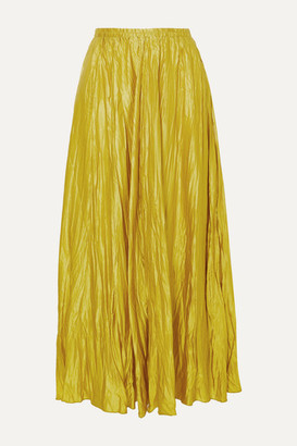 Forte Forte forte_forte - Crinkled Washed Silk-satin Maxi Skirt - Lime green