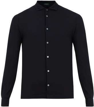 Zanone Long-sleeved cotton shirt