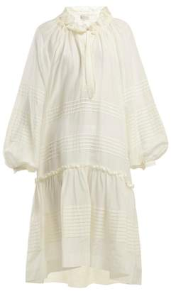 Lee Mathews - Valentine Cotton And Silk Blend Dress - Womens - Ivory