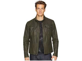 John Varvatos Collection Zip Front Closure Jacket O1703U2 Men's Coat