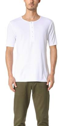 THE WHITE BRIEFS Oat Short Sleeve Henley