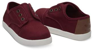 Toms (トムス) - Toms 【kids】burgundy Canvas Tiny Paseos(C)Fdb