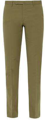 Incotex Venezia 1951 Slim Leg Cotton Blend Chinos - Mens - Green