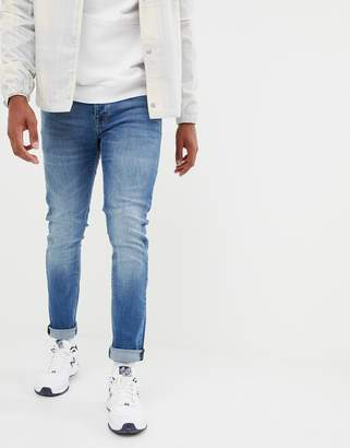 Voi Jeans Skinny Jeans In Mid Blue