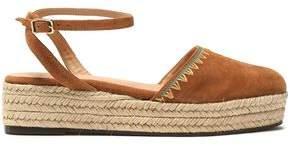 Castaner Elena Embroidered Suede Espadrille Platform Sandals