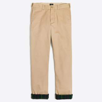 J.Crew Factory Sutton straight-fit flannel-lined chino