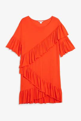Monki Soft ruffled dress