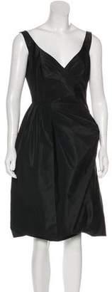 Prada Pleated A-Line Dress