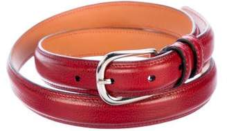 John Lobb Leather Buckle Belt