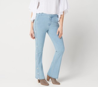 G.I.L.I. Got It Love It G.I.L.I. Petite Dual Stretch Side Button Flared Jeans