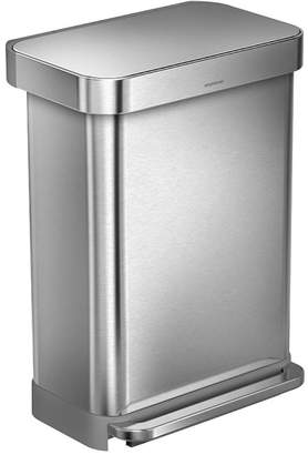 Williams-Sonoma simplehuman Rectangular Step Can with Liner Pocket, Brushed Stainless-Steel