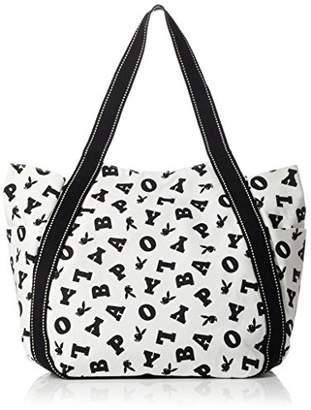 Playboy (プレイボーイ) - [プレイボーイ]トートバッグ カバン かばん 鞄 マザーズバッグ キャンバス PLAYBOY ロゴ 総柄 レディース メンズ ユニセックス ちりばめロゴ