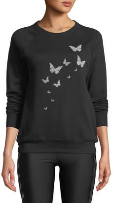 Swarovski Ultracor Butterfly Crewneck Sweatshirt