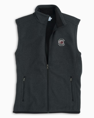 Southern Tide Gameday Sweater Fleece Vest - University of South Carolina