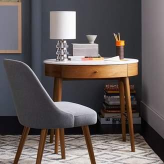 west elm Penelope Mini Desk - Acorn w/ Marble Top