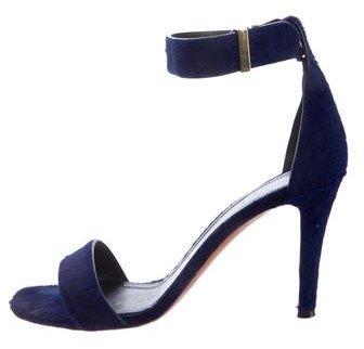 Céline Ponyhair Ankle Strap Sandals