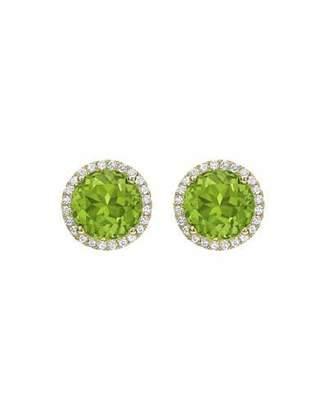 Kiki McDonough Grace Peridot & Diamond Halo Stud Earrings