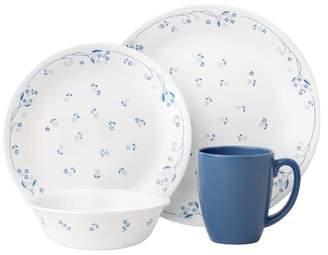 Corelle 16 Piece Provincial Blue Livingware Dinner Set