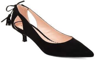 Journee Collection Womens Jc Bindi Slip-on Pointed Toe Kitten Heel Pumps