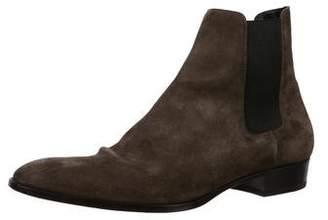 Saint Laurent Wyatt 30 Suede Chelsea Boots