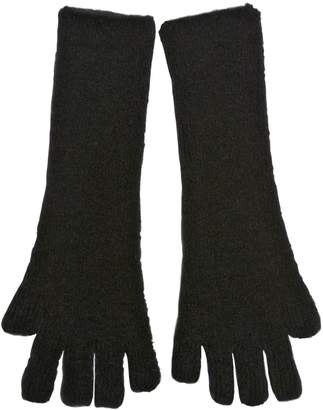 Isabel Benenato Wool Blend Long Fingerless Gloves