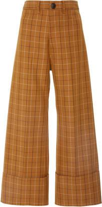 Sea Poirot Plaid Classic Cuff Pant