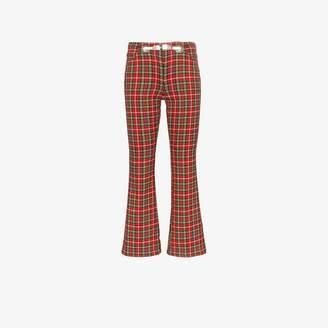 Morgan Miaou Plaid Trousers