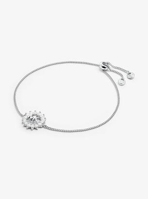 Michael Kors Precious Metal-Plated Sterling Silver Logo Slider Bracelet