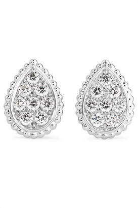 Boucheron Serpent Bohème 18-karat White Gold Diamond Earrings - one size