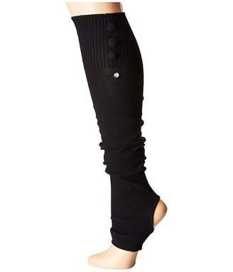 Toesox Rae Leg Warmer Button Up-Open Heel