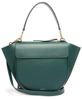 Hortensia Wandler Medium Leather Cross Body Bag - Womens - Dark Green