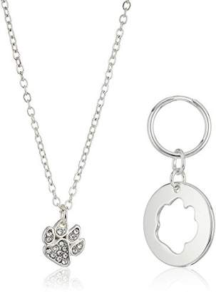 Pet Friends tone Crystal Paw Charm Pendant