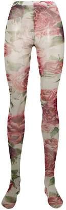 Dolce & Gabbana rose print tights