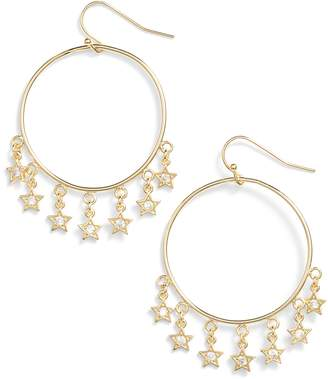 Melinda Maria Star Shooter Hoop Earrings