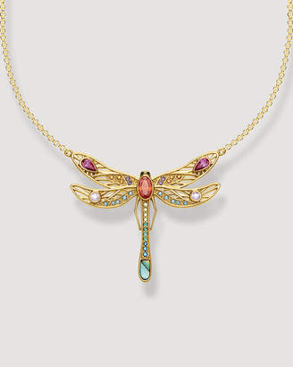 Thomas Sabo Paradise Colours Large Dragonfly Gold Necklace