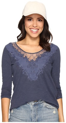 Lucky Brand - Washed Applique Top Women's Clothing $59.50 thestylecure.com