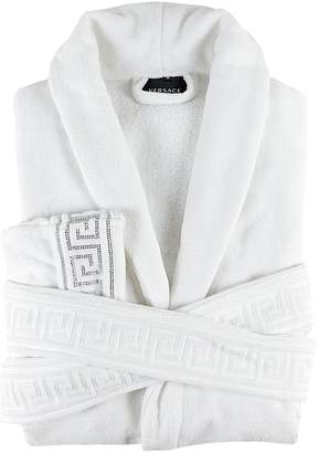 Versace (ヴェルサーチ) - Versace Medusa Crystal Cotton Bathrobe