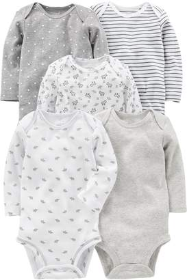 Carter's Simple Joys by Baby 5-Pack Long-Sleeve Bodysuit