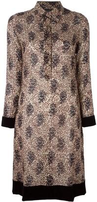 Jean Paul Gaultier Pre-Owned floral velvet trim dress