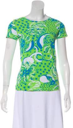 Lilly Pulitzer Short Sleeve Scoop Neck Top