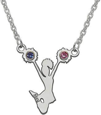 FINE JEWELRY Personalized Girls Birthstone Cheerleader Name Necklace