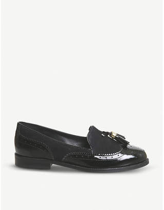 Office Familiar tassel-detail patent leather loafers
