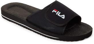 Fila Black Slip-On Low Slide Sandals